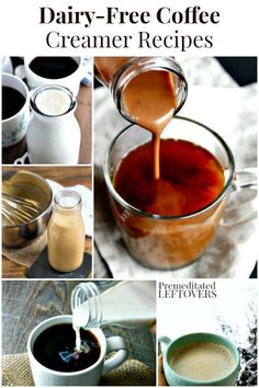If you are dairy-free, your coffee creamer options may be limited. These dairy-free coffee creamer recipes will give you a variety of delicious flavors. Dairy Free Cookies, Dairy Free Snacks, Dairy Free Breakfasts, Dairy Free Diet, No Dairy Recipes, Vegan Recipes, Gluten Free, Dairy Free Coffee Creamer, Coffee Creamer Recipe
