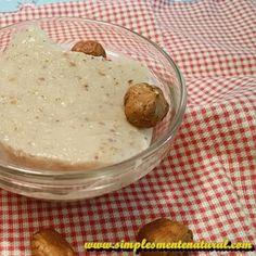 Simplesmente Natural: Pudim de avelã sem lactose, sem gluten e sem ovos com agar-agar
