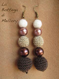 ORECCHINI UNCINETTO #jewels #crochet #women