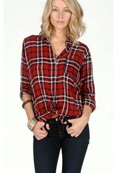 Rails Dana Button Down Red Plaid Shirt $127