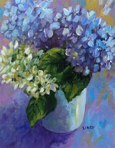 """Daily Paintworks - """"Flowers for Verline"""" - Original Fine Art for Sale - © Libby Anderson"""