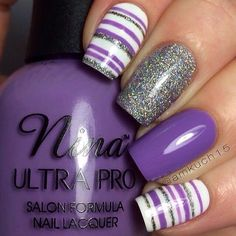 Cute gel nail art designs for Easter, ideas, trends and stickers 2015 - Nail Designs! Striped Nail Designs, Gel Nail Art Designs, Pretty Nail Designs, Beach Nail Designs, Easter Nail Designs, Purple Nail Designs, Fingernail Designs, Nails Design, Nail Art Stripes