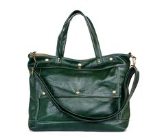 please...want...have :)  Archive Bag in Winter Green Leather - Made to Order. $285.00, via Etsy.