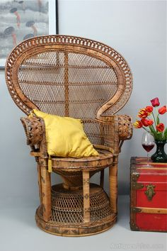 Image result for large wicker chair