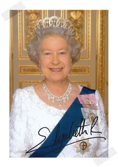 Her Majesty Queen Elizabeth II autographed signed photo 4*6 inches authentic freeshipping  01.2017