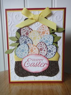 Stampin Up handmade Happy Easter in a basket card by treehouse05, $3.50