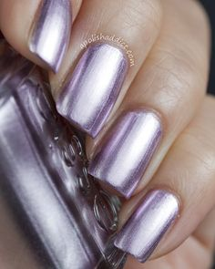 "My Thai gel manicure was very close to this color- Essie ""Nothing Else Metals"""