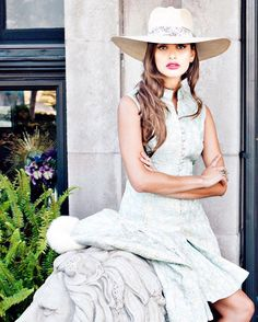 4d32585126929 Hats off to our latest collection from  gladys tamez millinery. Add this  look to your