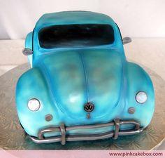 Classic Volkswagen Bug Car Cake