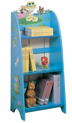 Teamson Book Case - Frog Book Shelves Teamson Kid's Book Case - FrogThis a great addition to any kid's room. Wooden Bookcase, Bookshelves Kids, Bookcases, Organizing Kids Books, Childrens Book Shelves, Before Midnight, Painted Books, Hand Painted, Kids Storage