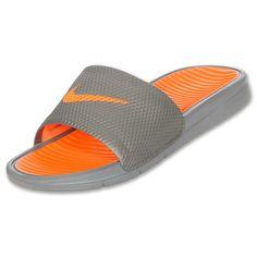 best authentic 8e596 b9623 Men s Nike Benassi Solarsoft Slide Sandals   FinishLine.com   Cool  Grey Total Orange