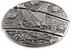 Eagle Belt Buckle With Hidden Knife