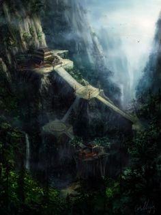 Illustration Yang Bo Mountain