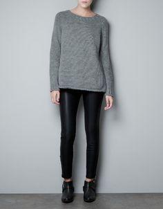BASIC SWEATER - Knitwear - Woman - ZARA Norway