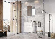 Kolekcja mebli łazienkowych Lofty. #naszemeblenaszapasja #elita #meble #łazienka #meblełazienkowe #elitameble Lofty, Double Vanity, Divider, Bathroom, Furniture, Home Decor, Washroom, Decoration Home, Room Decor