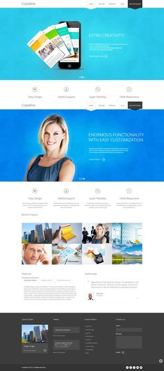 Crystalline - Ultimate Business WordPress Theme - Business Corporate  #wordpress #theme #website #template #responsive #design #webdesign #flat #flatdesign #modern #metro