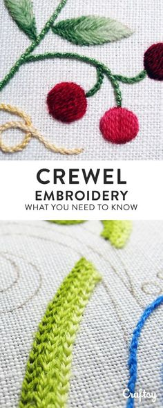 Learn all about crewel embroidery by diving into its history and checking out beautiful examples of stitches.