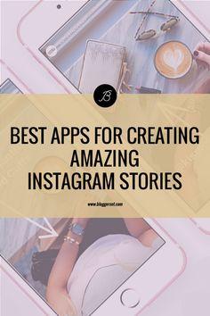 Best Apps For Creating Amazing Instagram Stories - BloggerSET by Liza Bartis Instagram Posting App, Instagram Story App, Best Instagram Stories, More Followers On Instagram, Instagram Editing Apps, Instagram Marketing Tips, Best Social Media Apps, Film App, Best Editing App