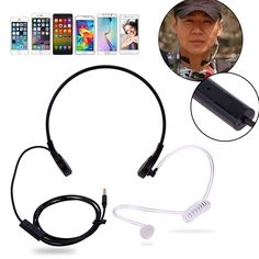 4.05$  Buy here - http://alipz3.shopchina.info/go.php?t=32806516905 - 3.5mm Throat MIC Headset Covert Acoustic Tube Earpiece for iPhone HTC Blackberry LG Android Universal Mobile Phone 4.05$ #shopstyle