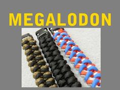 "How to make a Megalodon Paracord Bracelet (5/8"" buckle) -by-  Paracord 101"