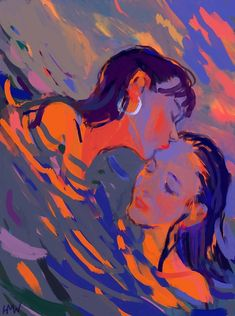 art print by hollywarbs - 2019 오일 파스텔 그림 рисунки, Pretty Art, Cute Art, Painting Inspiration, Art Inspo, Posca Art, Illustration Art, Illustrations, Arte Sketchbook, Lesbian Art