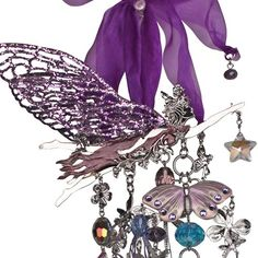 Astrals Fairy Gatherings Wind Chime (Silvertone/Purple): Kirks Folly Online Web Store for my mom