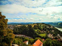 Passau, view of Austrian border from the Bishop's fortress. Late August 2014, Julius B. Young