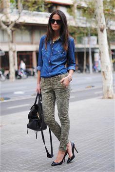 Calça Camuflada+jeans
