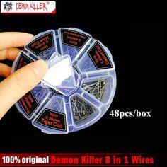 8 in 1 Demon Killer Wire Prebuilt Coils Clapton Quad Tiger Hive Alien Fused Clapton Mix Twisted Coil fit DIY Atomizer
