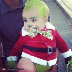 baby grinch and cindy lou who costumes - Baby Grinch Halloween Costume