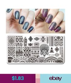 $1.83 - Nail Art Stamping Plate Manicure Image Template Ethnic Design Bp-L048 #ebay #Fashion