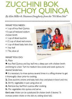 Zucchini Bok Choy Quinoa, Inspire Health Magazine