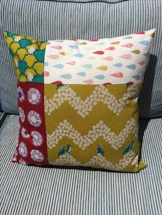 First pillow I've made. Is a bit different on reverse.
