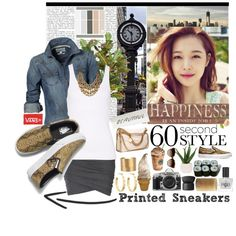 """""""60-Second Style: Printed Sneakers"""" by katrina-byrd-jones on Polyvore"""