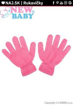 Detské zimné rukavičky ružové New Baby Products