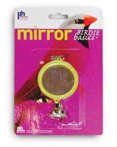 BIRD - TOYS: VARIOUS - BIRDIE BASIC 2-SIDED ROUND MIRROR - - PREVUE PET PRODUCTS, INC - UPC: 48081604212 - DEPT: BIRD PRODUCTS