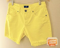 Shorts Sarja Amarelo R$169,90 -40%.  -Loja: Vitória.com