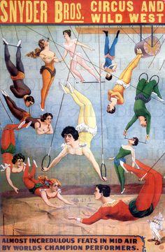 Antique CIRCUS Poster. Vintage Women/Men TRAPEZE Artists Illustration. Vintage Circus Digital DOWNLOAD. Vintage Trapeze Artist Circus Print.