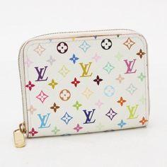 895cef77d9d0 Louis Vuitton Zippy Coin Purse Monogram Multicolor Wallets White Canvas  M93741