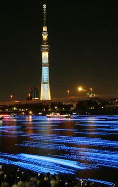 "LED fireflies ""TOKYO HOTARU FESTIVAL 2012"""