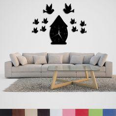 Handmade, Wood, Decorative Wall Clock, Bird House Motif, Dekorsaat Home And Garden, Clock, Wall Decor, Bird, Handmade, House, Home Decor, Watch, Wall Hanging Decor