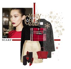 """Merry Christmas and Happy Holidays!"" by chebear ❤ liked on Polyvore featuring MANGO, TIBI, New Look, Burberry, Alexander Wang, Fendi, John Lewis, M&Co and scarf"