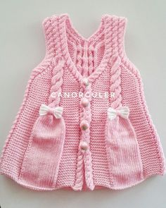 Boys and girls babies most beautiful baby weaves, annotated baby hats . Baby Cardigan Knitting Pattern, Knitted Baby Cardigan, Baby Pullover, Knitted Baby Clothes, Lace Knitting, Kids Knitting Patterns, Knitting For Kids, Crochet Summer Dresses, Knit Baby Dress