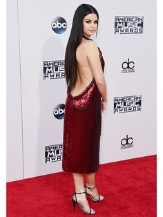 Best dressed at the AMAs: Selena Gomez in a low-back red sequined mini dress
