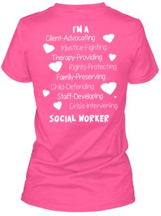 Discover Proud Social Worker T-Shirt, a custom product made just for you by Teespring. With world-class production and customer support, your satisfaction is guaranteed. Medical Social Work, School Social Work, Social Services, Human Services, Social Worker Quotes, Social Workers, Custom Clothes, Custom Shirts, Work Motivation