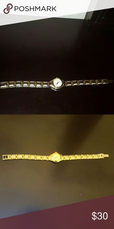 Bulova watch Sliver and gold plated watch. It's in top shape. It will make a good watch. Bulova Jewelry