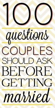 Serious questions to ask before dating