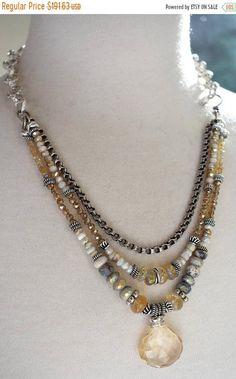 necklace citrine necklace white opal necklace dendrite opal