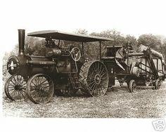 Vintage Case Steam Tractor Harvester MI. Old Time Farming Case Brand