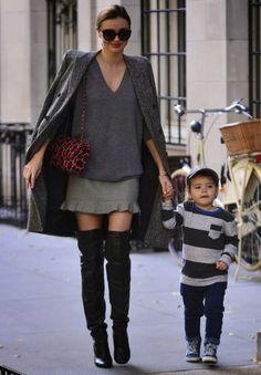 Gray | Grey | Cinza | Miranda Kerr |  http://cademeuchapeu.com/